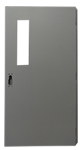 Hollow Metal Door with small window by JR Metal Frames