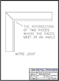 Mitre Joint PDF provided by JR Metal Frames.