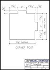 Corner Post PDF provided by JR Metal Frames.