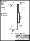 KD Adjustable Wall Frame provided by JR Metal Frames.