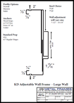 KD Adjustable Wall Frame Large Wall provided by JR Metal Frames.