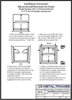KD Borrowed Lite frame installation instructions in English by JR Metal Frames.