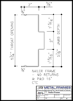 Nailer Frame PDF provided by JR Metal Frames.