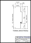 Thermal Break Profile PDF provided by JR Metal Frames.